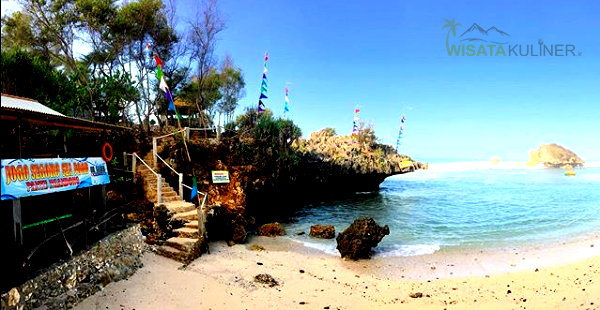 tebing karang pantai ngandong