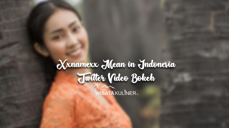 Xxnamexx Mean in Indonesia Twitter Video Bokeh Full No Sensor